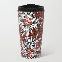 Authentic Aboriginal Art - Bushland Dreaming Travel Mug