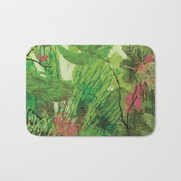 Spring Bird in a Tree Bath Mat
