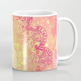 Mandala in Rose and Lemon Coffee Mug