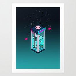 Vaporwave Phonebooth Art Print