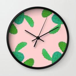 Cacti friends Wall Clock