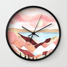 Autumn Lake Sunrise Wall Clock