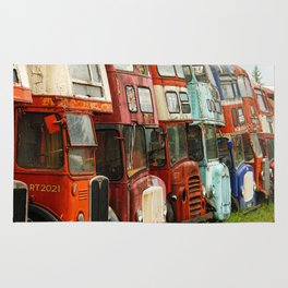 London Busses with Patina Rug