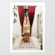 Colonial Style Tea Room in Merida, Mexico Art Print