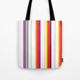 Colorful Stripes Barcode 80s Tote Bag