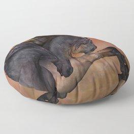 HORSES - On sugar mountain Floor Pillow