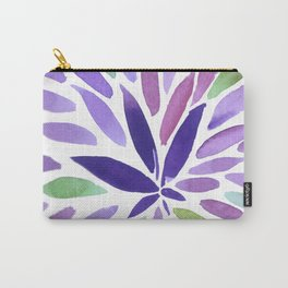 Pretty Purple Pot Burst Carry-All Pouch