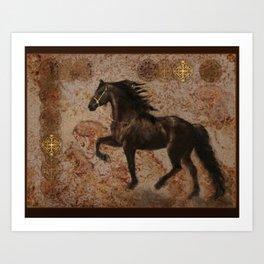 The Emperor's Stallion Art Print