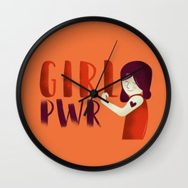 Do It Like A Girl - Terracotta Typography Wall Clock