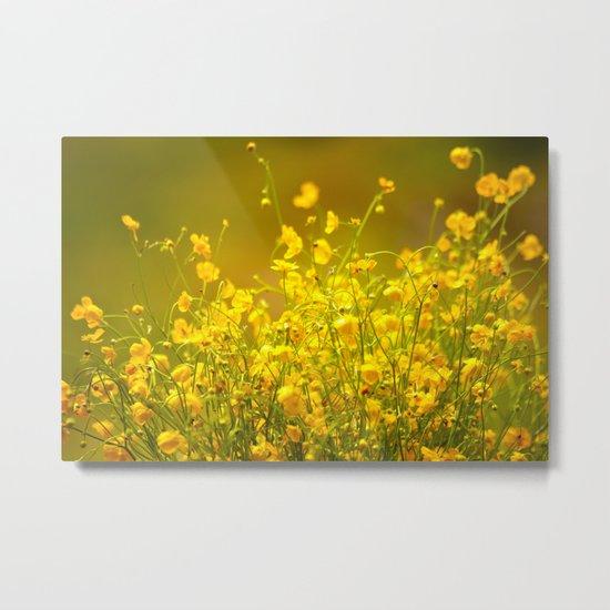 Yellow Mellow Flowers Metal Print