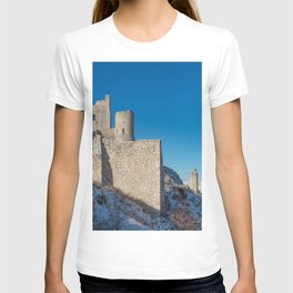 Winter panoramic view with ancient castle T-shirt