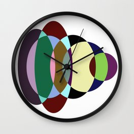 Pastel Meditation - Pastel coloured, relaxing, calming, abstract, elliptical interactions Wall Clock