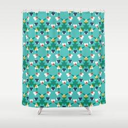 Kaleidescope aqua Shower Curtain