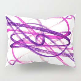 Twisted Violet Fuchsia Abstract Lines Pillow Sham