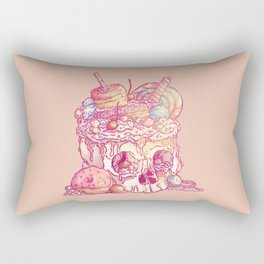 Skull No.3 // The Yummy One Rectangular Pillow
