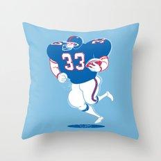 American Footballer Throw Pillow