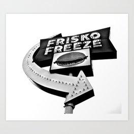 Frisko Freeze Art Print