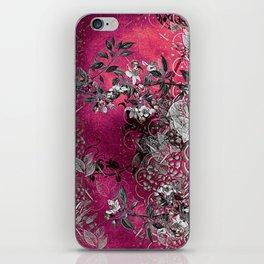 Pink Chinese Silk iPhone Skin