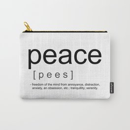 Definition of Peace Carry-All Pouch