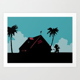 Kame House Art Print