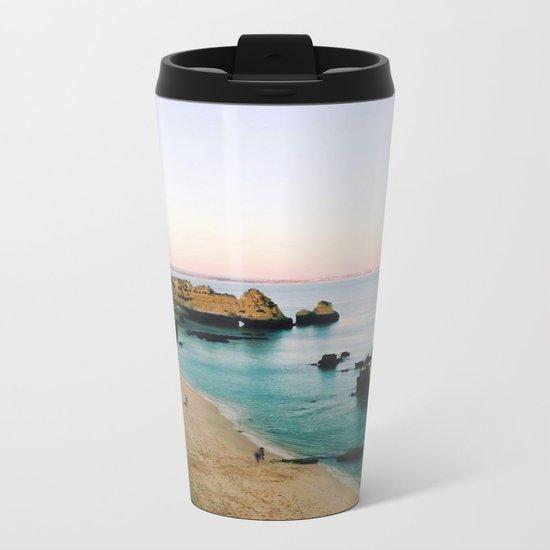 Oceanside Sunset Metal Travel Mug