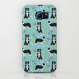 Border Collie tennis ball cute pet portrait by pet friendly dog patterns dog breed gifts iPhone Case