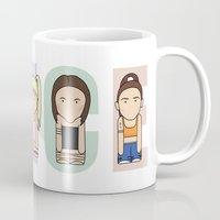 spice girls Mugs featuring Spice Girls by Big Purple Glasses