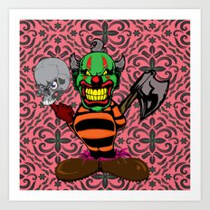 THE EVIL CLOWN Art Print
