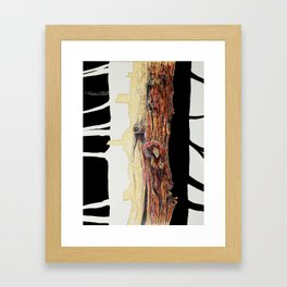 Tree trunks Framed Art Print