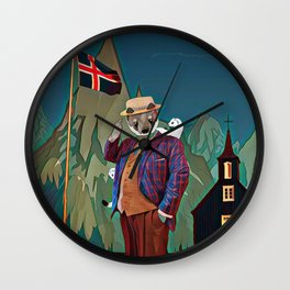 Ermine in the Iceland Wall Clock