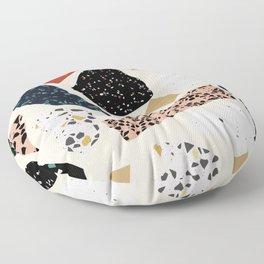 Modern Terrazzo Collage 01 Floor Pillow