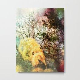 Yellow Plume Metal Print