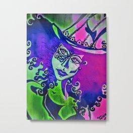 Vixen : purple/green Metal Print