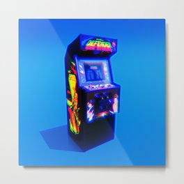 DEFENDER - 1981 ARCADE MACHINE Metal Print