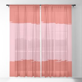 Crimson Swatch Sheer Curtain