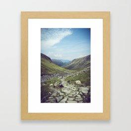 Hiking Path Framed Art Print