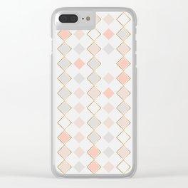 Pattern Rose Clear iPhone Case