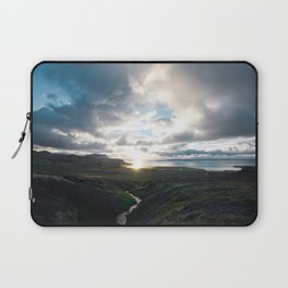 Westfjords July sunset Laptop Sleeve