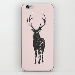 Plain deer modern art iPhone Skin