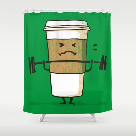 Strong Coffee Shower Curtain