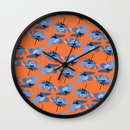 crazy summer Wall Clock