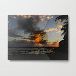 Sunset on a little island Metal Print