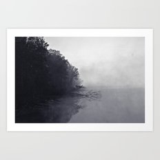 Foggy and Chilly morning at Alum Creek Art Print