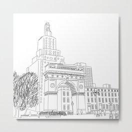 Washington Square Park in New York, NY Metal Print