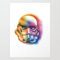 starwars Art Prints featuring Stormtrooper StarWars by CipiArt
