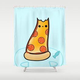 Purrpurroni and Cheese - Pizza Cat Shower Curtain