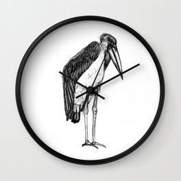 Croquis de marabout d'Afrique Wall Clock