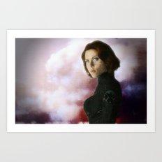 Black Widow Portrait Art Print