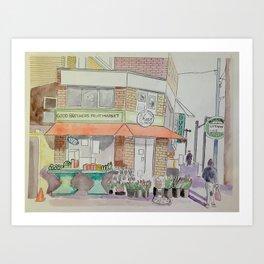 Pape & Bloor Toronto Art Print