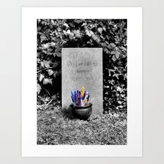 The Grave of Douglas Adams Art Print